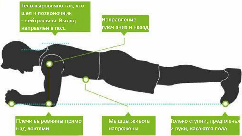 Упражнение Планка- лучшее упражнение на пресс